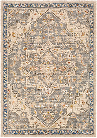 "Machine Woven 7'10"" x 10'3"" Area Rug, Butter/Cream/Champagne, rollover"