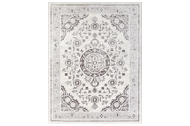 """Machine Woven 7'10"""" x 10'3"""" Area Rug, Ash/Charcoal/White, large"""