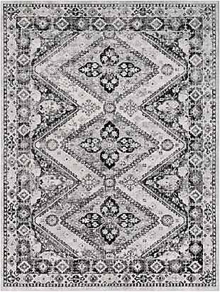 """Machine Woven 7'10"""" x 10'3"""" Area Rug, Charcoal/Navy/Cream, rollover"""