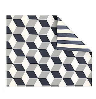 Nursery Play with Pieces Geo Stripe Reversible Play Mat, , large