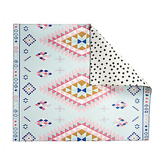 Nursery Play with Pieces Moroccan Rug Polka Dot Reversible Play Mat, , large