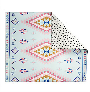 Nursery Play with Pieces Moroccan Rug Polka Dot Reversible Play Mat, , rollover
