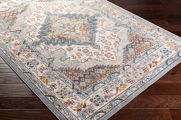 "Machine Woven Anakara 5'3"" x 7'3"" Area Rug, Taupe, large"