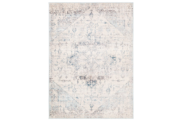 "Machine Woven Anakara 6'7"" x 9' Area Rug, Ash Gray, large"