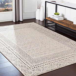 "Hand Tufted Bahar 6'7"" x 9' Area Rug, Charcoal, rollover"