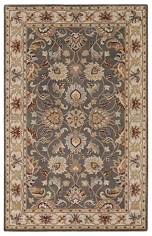 Machine Woven Augusta 5' x 8' Area Rug, Chocolate, large