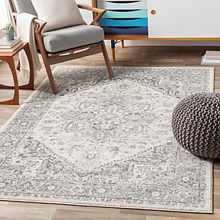 "Machine Woven Chester 5'3"" x 7'3"" Area Rug, Charcoal, rollover"