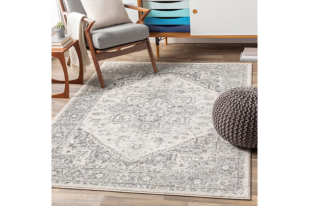 "Machine Woven Chester 5'3"" x 7'3"" Area Rug, Charcoal, large"
