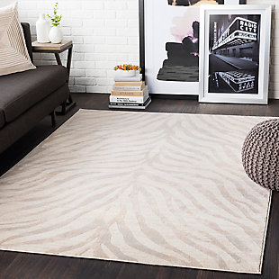 "Machine Woven Greenville 3'11"" x 5'7"" Area Rug, Khaki, rollover"