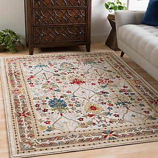 "Machine Woven Crawley 5'1"" x 7'5"" Area Rug, Khaki, rollover"