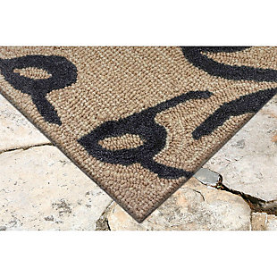 "Home Accents 5' x 7'6"" Indoor/Outdoor Rug, Black, rollover"