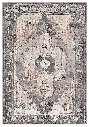 "Machine Woven Styles 4'3"" x 5'7"" Area Rug, Chocolate, large"