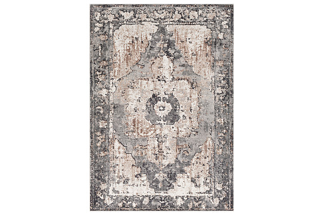 """Machine Woven Styles 4'3"""" x 5'7"""" Area Rug, Chocolate, large"""