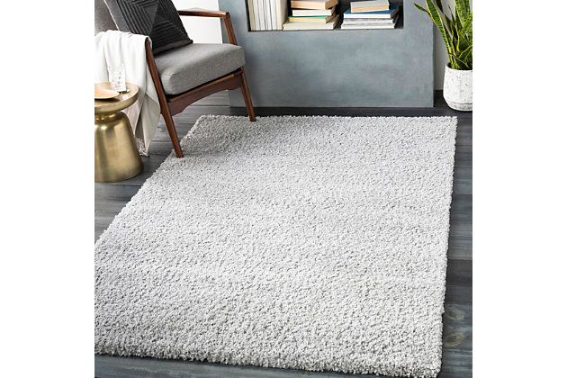 Machine Woven Deluxe Shag 2' x 3' Doormat, Ash Gray, large