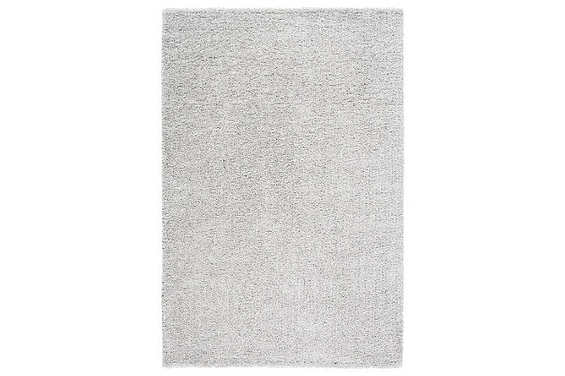 "Machine Woven Deluxe Shag 4'3"" x 5'7"" Area Rug, Ash Gray, large"