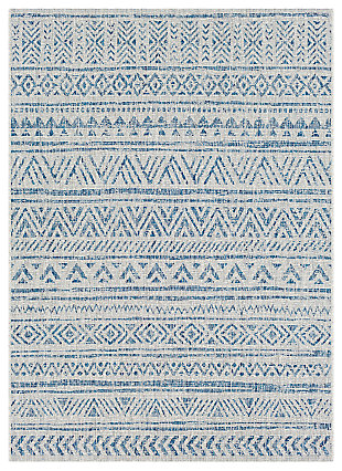 "Machine Woven Eagean 4'3"" x 5'11"" Area Rug, Denim, large"