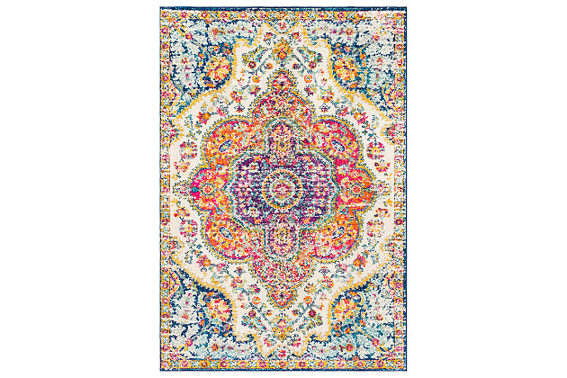 "Machine Woven Elaziz 5'3"" x 7'6"" Area Rug, Saffron, large"