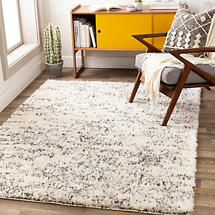 "Machine Woven Falls 5'3"" x 7'3"" Area Rug, White, rollover"