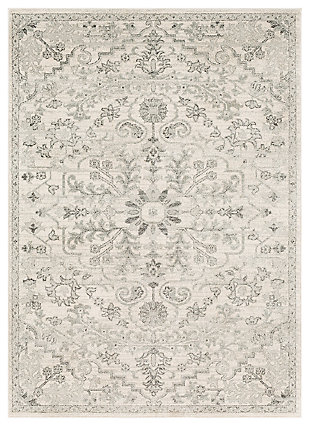 Machine Woven Harper 2' x 3' Doormat, Charcoal/Ash Gray/Cream, large