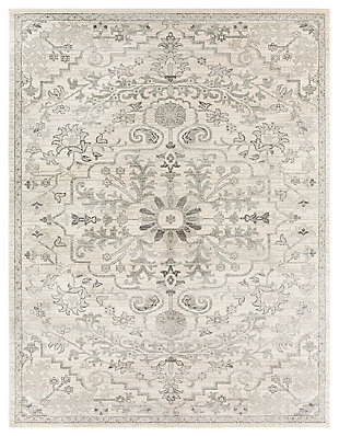 "Machine Woven Harper 7'10"" x 10'3"" Area Rug, Charcoal/Ash Gray/Cream, large"