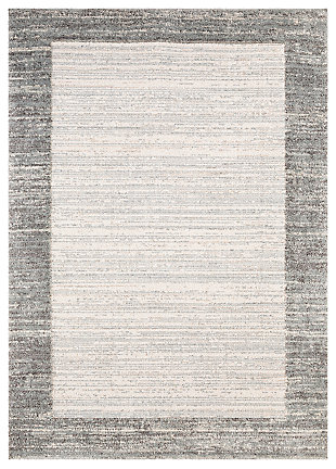 "Machine Woven Lanni 5'3"" x 7'3"" Area Rug, Medium Gray, large"