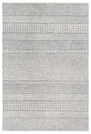 "Machine Woven Machen 5' x 7'6"" Area Rug, Medium Gray, large"