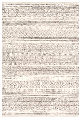 "Machine Woven Machen 5' x 7'6"" Area Rug, Medium Gray, rollover"