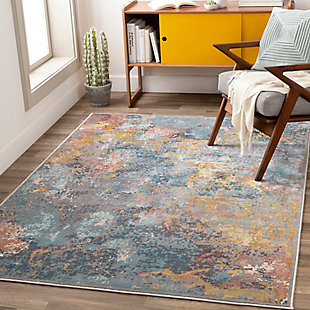 "Hand Tufted Mills 6'5"" x 9'2"" Area Rug, Gold, rollover"