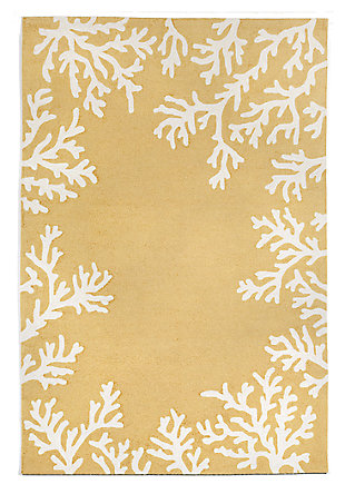 "Home Accents 5' x 7'6"" Indoor/Outdoor Rug, Yellow, large"