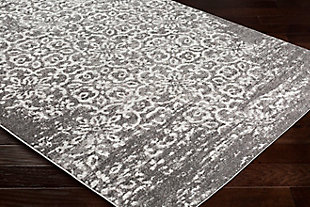 """Machine Woven Monte Carlo 2'7"""" x 7'3"""" Runner, Charcoal, large"""