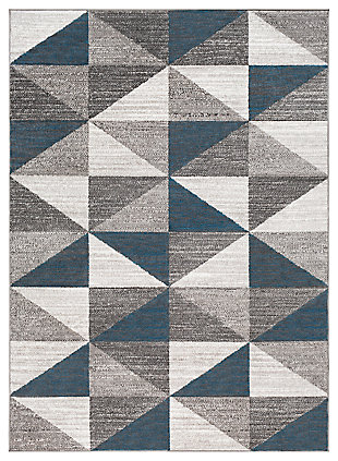 "Machine Woven Monte Carlo 5'3"" x 7'3"" Area Rug, Ash Gray, large"