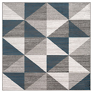 "Machine Woven Monte Carlo 5'3"" x 5'3"" Square Area Rug, Ash Gray, large"