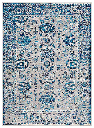 "Machine Woven Monte Carlo 5'3"" x 7'3"" Area Rug, Navy, large"