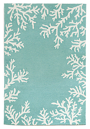 "Home Accents 7'6"" x 9'6"" Indoor/Outdoor Rug, Blue, large"