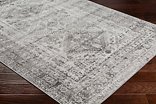"Machine Woven Monte Carlo 7'10"" x 10'2"" Area Rug, Ash Gray, large"