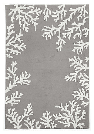 "Home Accents 3'6"" x 5'6"" Indoor/Outdoor Rug, Gray, large"