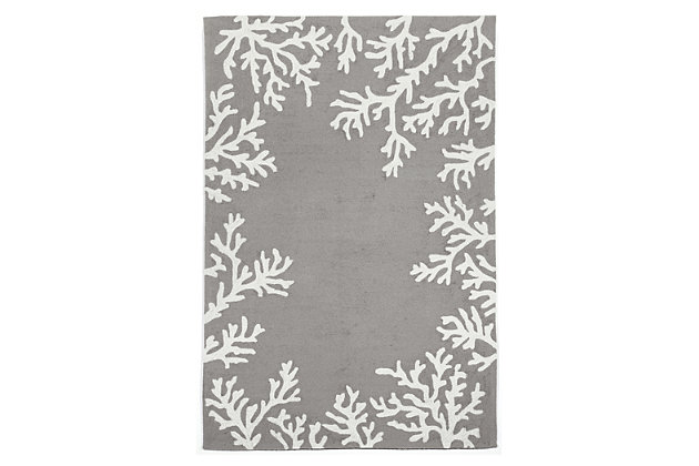"""Home Accents 3'6"""" x 5'6"""" Indoor/Outdoor Rug, Gray, large"""