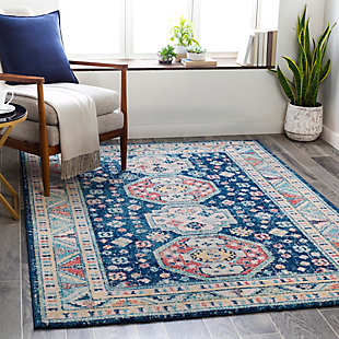 "Machine Woven Murat 5'3"" x 7'3"" Area Rug, Navy, rollover"