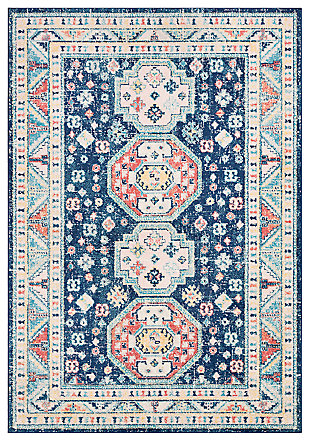 "Machine Woven Murat 7'10"" x 10' Area Rug, Navy, large"