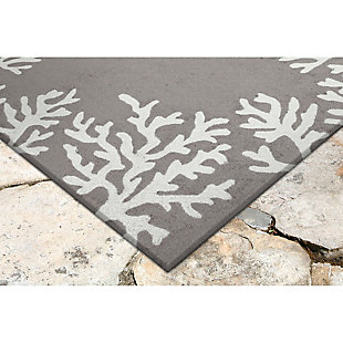 "Home Accents 5' x 7'6"" Indoor/Outdoor Rug, Gray, rollover"