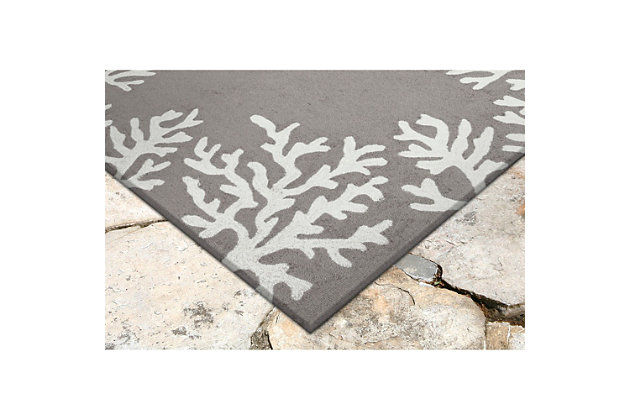 "Home Accents 5' x 7'6"" Indoor/Outdoor Rug, Gray, large"