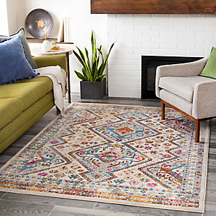 "Machine Woven Norwich 5'3"" x 7'3"" Area Rug, Cream, rollover"