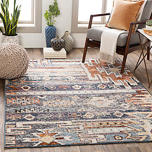 "Machine Woven Montanna 5'3"" x 7'3"" Area Rug, Denim, rollover"