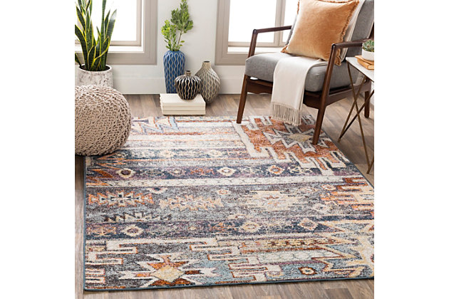 "Machine Woven Montanna 5'3"" x 7'3"" Area Rug, Denim, large"
