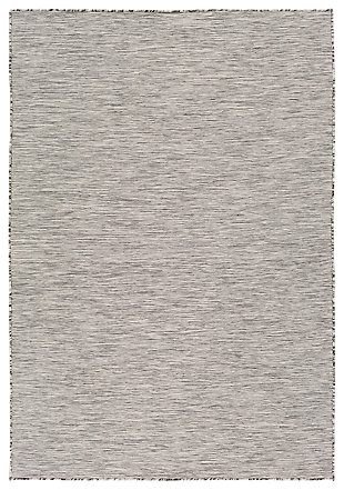 "Machine Woven Pasadena 7'10"" x 10'2"" Area Rug, Medium Gray, large"