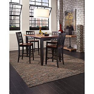 "Home Accents 5' x 7'6"" Indoor/Outdoor Rug, Brown, large"