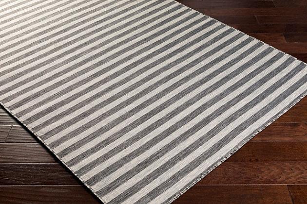 "Machine Woven Pasadena 7'10"" x 10'2"" Area Rug, Medium Gray, large"