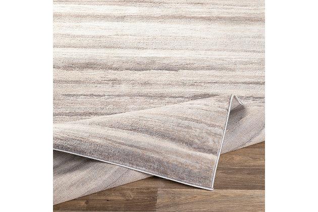 "Machine Woven Roma 7'10"" x 10', Medium Gray, large"