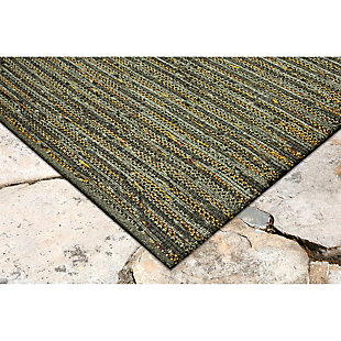 "Home Accents 5' x 7'6"" Indoor/Outdoor Rug, Green, rollover"