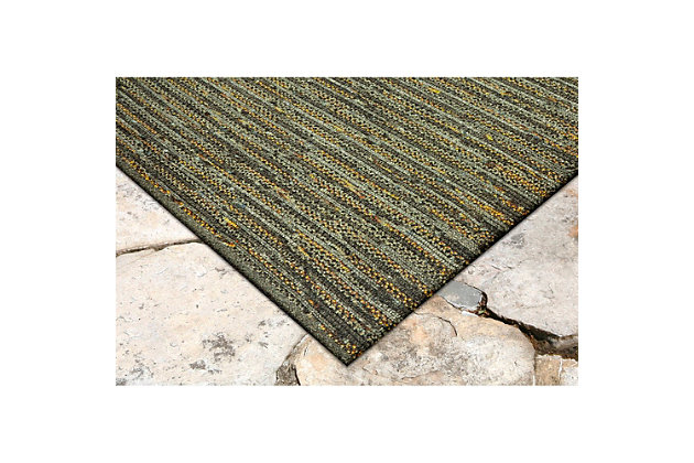 "Home Accents 5' x 7'6"" Indoor/Outdoor Rug, Green, large"